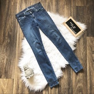 7 For All Mankind The Skinny Denim Jeans Size 26